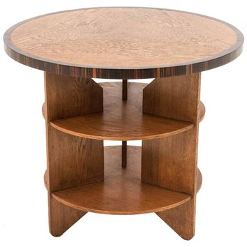 Funky Art Deco Haagse School Coffee Table by Pel Izeren for Genneper Molen
