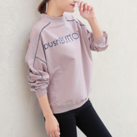 Casual Loose Long-Sleeved Letters Sweater