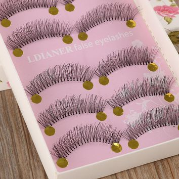 5 Pairs Natural Long Sparse Cross Eye Lashes Extension Makeup False Eyelashes Hot Sale 048