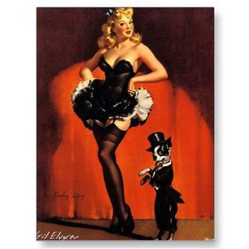 Vintage Retro Gil Elvgren Pin Up Girl Cards Postcards from Zazzle.com