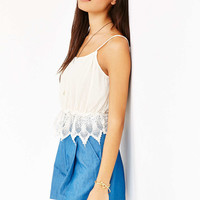 Glamorous Crochet-Trim Tank Top - Urban Outfitters