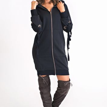 Forget It All Sweatshirt Tunic (Navy)