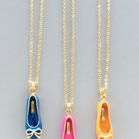 Darling Ballet Flat Pendant Necklaces - in 3 Colors