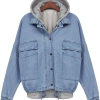 Hooded Jean Jacket from Seek Vintage