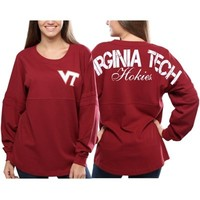 Women's Dark Red Virginia Tech Hokies Spirit Jersey Long Sleeve Top