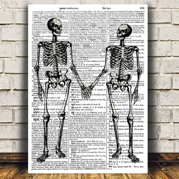 Anatomy poster Medical print Skeleton print Macabre decor RTA860