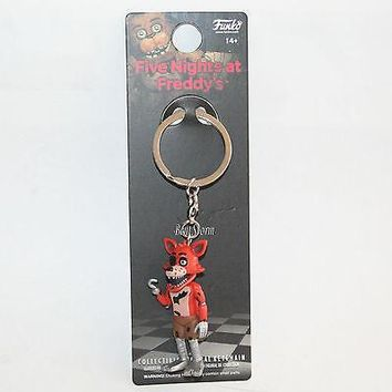 Licensed cool NEW FUNKO Five Nights at Freddy's FOXY FOX Plastic Keychain Key Ring Key Chain