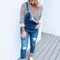 Over & Out Overalls: Denim