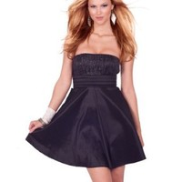 Strapless Pleated Empire Waist Full Circle Skirt Formal Evening Party Dress