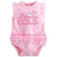 ''Princess in Training'' Disney Cuddly Bodysuit for Baby