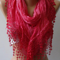 SUPER DISCOUNTED Scarf of the DAY - Was 23.90 Now  16.00 -Elegant - Dark Pink - Shawl - Scarf  Soft Shawl Soft