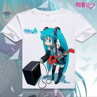 Hatsune Miku Short Sleeve Anime T-Shirt V17