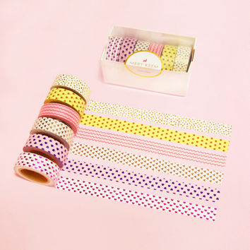 WASHI TAPE | Gold Tape, Metallic Washi Tape, Planner Organizer, Gold Rose Washi, Planner, Scrapbooking, Deco Tape, Wedding, Birthday, Shower