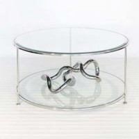 Rollo Coffee Table - Nickel