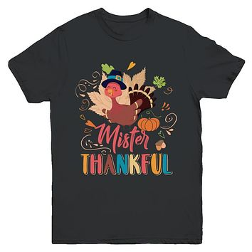 Cute Mister Thankful Turkey Thanksgiving Youth
