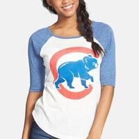 Junior Women's Wright & Ditson 'Chicago Cubs' Baseball Tee