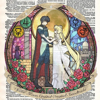 Sailor Moon Crystal Original Soundtracks Dictionary Art Print