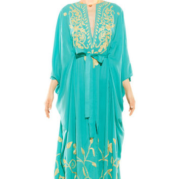 Belted turquoise Kaftan