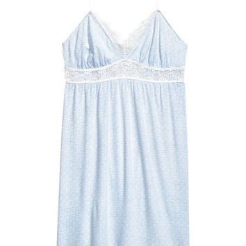 Nightslip with lace - Light blue/Patterned - Ladies | H&M GB