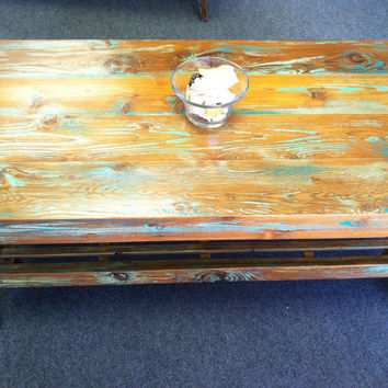 Distressed Reclaimed Barn Wood Coffee Table