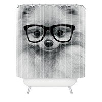 Allyson Johnson Hippest Pomeranian Shower Curtain