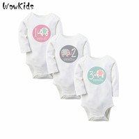 3pcs/Lot New Born Baby Clothes Long Sleeve Baby Rompers For Girls & Boys Baby Christmas Winter Clothing Baby Onesuit