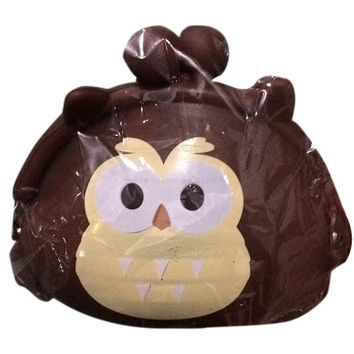 Girl's Cartoon Owl Silicone Jelly Wallet Bag Keys Coin Purse(brown)