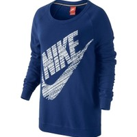 Nike Women's Rally Boyfriend Fit Logo Crewneck Sweatshirt | DICK'S Sporting Goods
