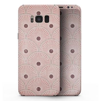Antique Red and Brown Fish Scales - Samsung Galaxy S8 Full-Body Skin Kit