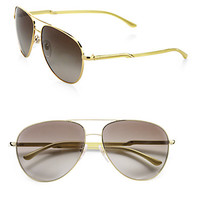 Stella McCartney - Modern Metal & Plastic Aviator Sunglasses