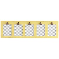 Clip Collage Photo Holder - Yellow