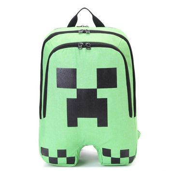 2017 HOT High Quality Minecraft backpacks Oxford Creeper school Bags Teenagers Book Rucksacks GAME accessory toy Birthday Gifts