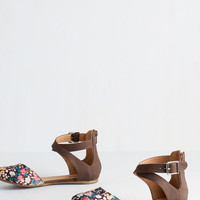 ModCloth Floral Intents and Purposes Flat