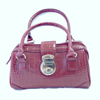 Red Alligator Purse Small Doctor Hand Bag
