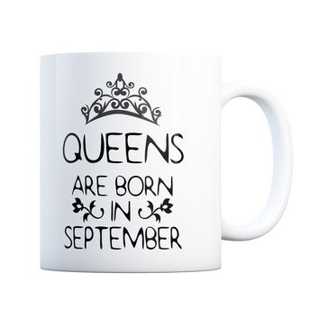 September Birthday Gift Queens Are Born 11 oz Coffee Mug Ceramic Coffee and Tea Cup