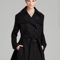 Via Spiga Coat - Double-Breasted Belted