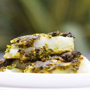 Recipes - Baked Fish with a Coriander Topping