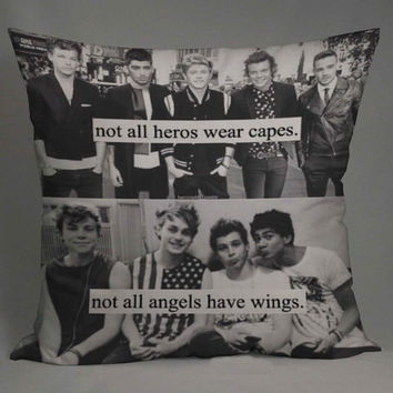 5 seconds of summer and one direction brotherhood pillow case one side or two side by NyamMug