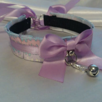 Lavender Drippy Cute Pet Play Collar!