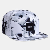 Huf Floral Box Logo Snapback Cap - White at Urban Industry