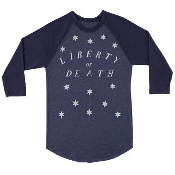 Liberty Or Death Colonial Vintage 3/4 Sleeve Raglan