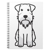 Miniature Schnauzer Dog Cartoon Spiral Notebook