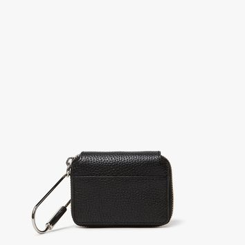 Kara / Pebble Leather Small Zip Wallet
