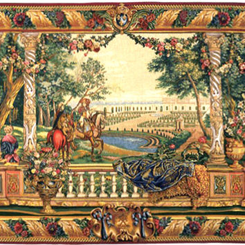 Louis XIV of Versailles Tapestry Wall Art Hanging