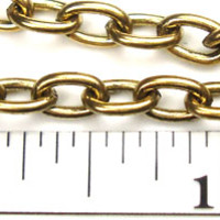 Gold-Plated Chain _#25: Antique Gold Medium Oval Plain Cable Chain by the foot - $3.25 at www.OhioBeads.com