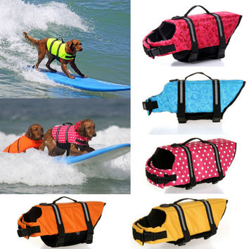 Pet Dog Life Jacket Safety Clothes for Pet Puppy Life Vest Outward Saver Swimming Preserver Large Dog Clothes Summer Swimwear 30