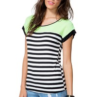 Highlight Contrast Stripe Tee