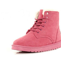 Collections - Nubuck Leather Snow Boots