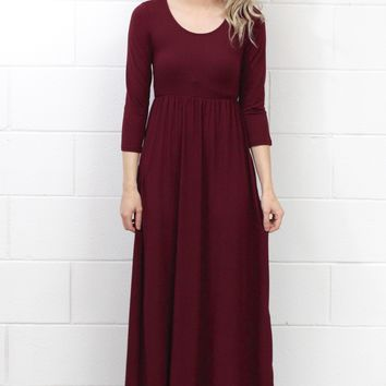 Best Suedette Maxi Dress Ever {Burgundy}