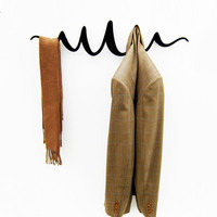 Squiggle Coat Hanger - Black